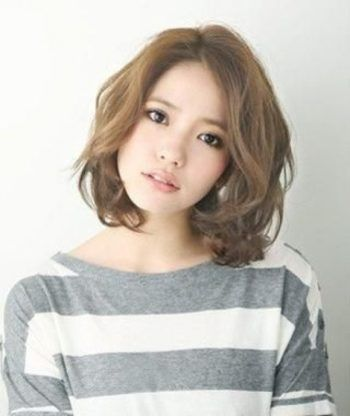 Korean Curly Short Hair Style