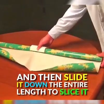 The outdated way of cutting wrapping paper has never worked, because the slice is either jagged, ripped, or crooked. This is frustrating. Now use our Wrapping Paper Cutter, to open a safe and easy way for cutting wrapping paper.