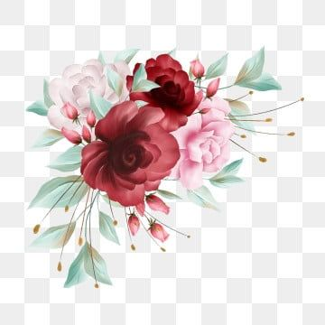 Flowers Decoration For Wedding Or Greeting Card Composition Flowers Template Card Png Transparent Clipart Image And Psd File For Free Download Flower Border Flower Backgrounds Watercolor Flower Wreath