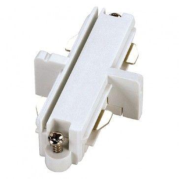 Längsverbinder für 1-Phasen HV-Stromschiene, Aufbauversion, weiss / LED24-LED Shop
