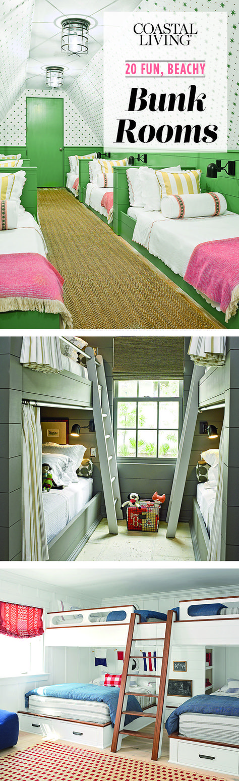 neutral kidsu0027 room with multiple bunk beds hgtv my dream house pinterest bunk bed hgtv and kids rooms