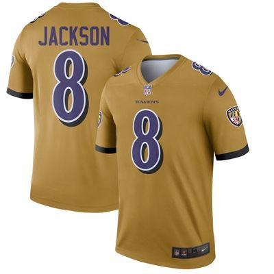 Baltimore Ravens Lamar Jackson Nike Inverted Legend Jersey Gold American Sports Sports Football Jerseys