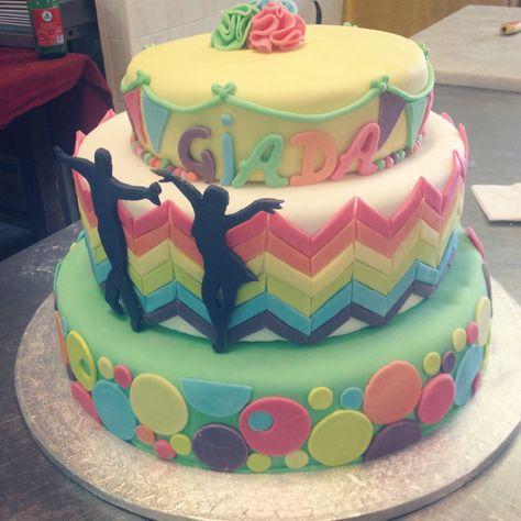 We❤️dance #dancer#cake#salsa#colorful#18th#happybirthday