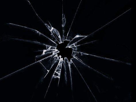 Shattered Glass By V4vodka Deviantart Com On Deviantart Shattered Glass Black Background Wallpaper Broken Screen Wallpaper