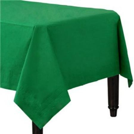 Bottle Green Table Cover Paper Tablecloth Green Tablecloth