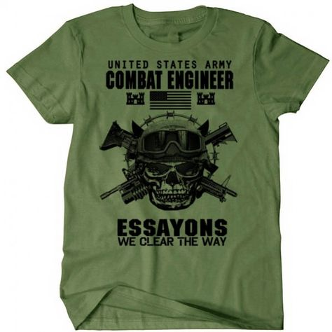 US Army Combat Engineer with Sapper Tab Embroidered Polo Shirt