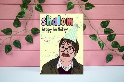 Shalom Jim Friday Night Dinner Birthday Card Happy Birthday Cards Birthday Cards Cards