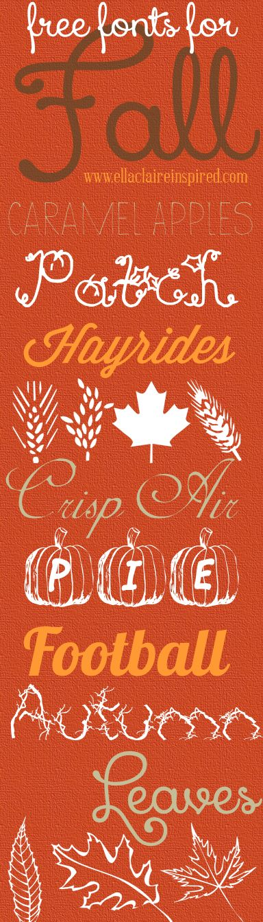Free fonts for Fall!