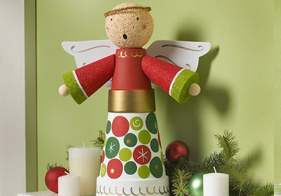 Clay Pot Angel Centerpiece
