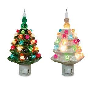 Ceramic Christmas Tree Bubble Night Light Christmas Night Light Ceramic Christmas Trees Christmas Tree Bubble Lights