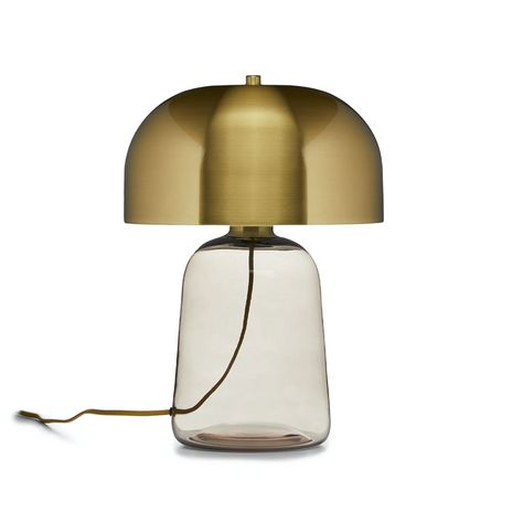 Koepel Brass Table Lamp from @Article beautiful, modern outdoor living space. Article offers high-quality furniture at a great price and is designed to last, plus they're shipping with Contactless Delivery right now to ensure everyone stays safe! #AD