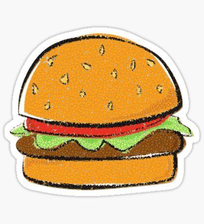 rebubble stickers burger cartoon hamburger drawing food cartoon burger cartoon hamburger drawing