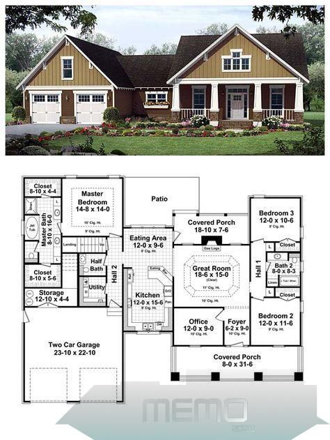 Pin By Emie Block On Maisons In 2020 Craftsman House Plans New House Plans Best House Plans