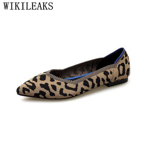 07b57503482 2018 designer leopard women shoes luxury brand flat shoes women spring  autumn women flats ladies slip on shoes for women loafers