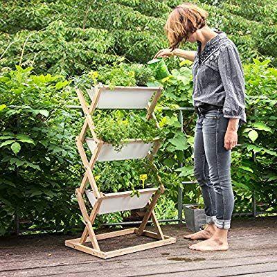 Urbanature Vertical Garden Hochbeet Fur Haus Und Garten Mit 3 Vertikalen Blumenkasten Amazon De Garten Haus Und Garten Garten Blumenkasten