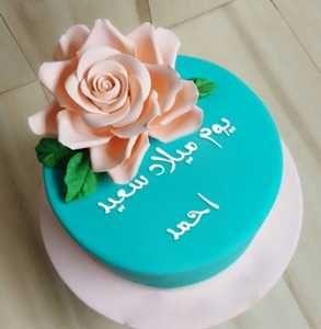 عيد ميلاد سعيد يا أحمد Happy Birthday Cake Hd Image Birthday Cake Girl Cakes