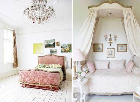 Slaapkamer Ideeen Brocante : Je slaapkamer brocante inrichten: voorbeelden en tips bed hemels