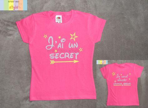 Enfant Je vais /être grande soeur 2021 Annoncer Grossesse /Él/éphant T-Shirt