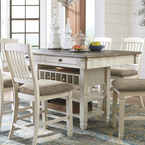 9f80d626f76 Signature Design by Ashley Bolanburg Rectangular Counter Height Dining  Table - D647-32