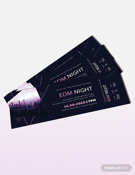 Music Theme Event Ticket Template Free Jpg Illustrator Word Apple Pages Psd Publisher Template Net Event Ticket Template Event Ticket Ticket Template