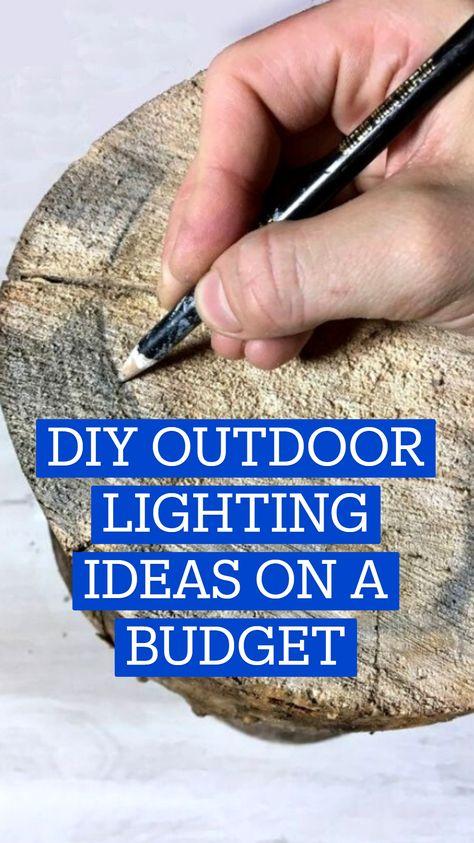 DIY OUTDOOR LIGHTING IDEAS ON A BUDGET