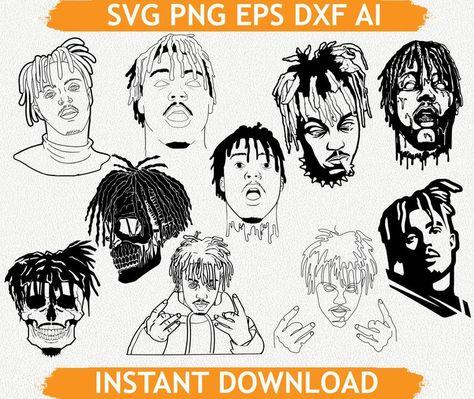 Big J-rap Bundle svg eps dxf ai Silhouette Vector File for   Etsy