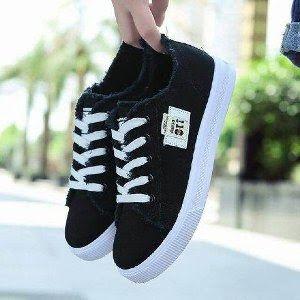 Beli Sepatu Kets Wanita Casual Hitam Sp06 Sepatu Kets Wanita
