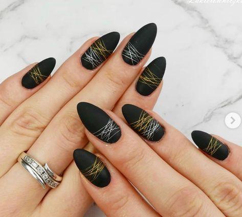 spider gel in 2019  nails nail designs black nails