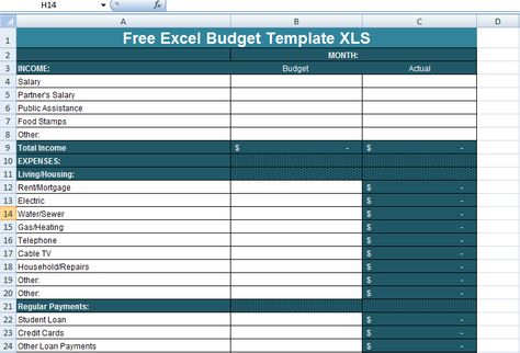 Free Excel Budget Template XLS Excel Project Management - expenditure template