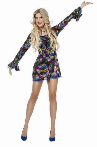 Disco jurkje pailletten is een flitsend disco jurkje voor