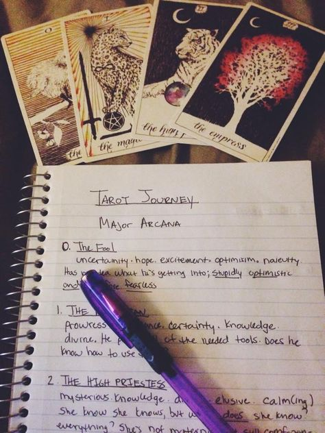 Tarot Journal - Wild Unknown Tarot Cards. Ashes and Wine