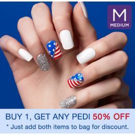 Cheers To The Red White Blue Kiss Press On Nails Are Safe On