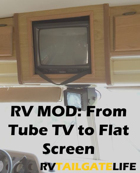How to Upgrade to Digital Flat Screen TV in the RV | Rv mods, Tvs, Diy rv