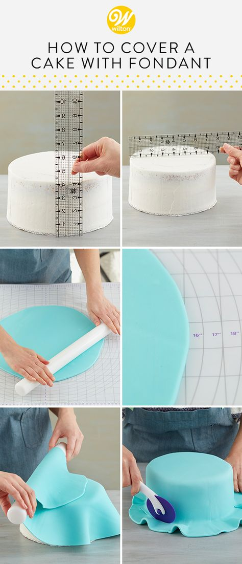 If you've always wondered how to cover a cake with fondant, you've come to the right place! Perfect for giving you that nice, clean finish on your cake, fondant is an edible dough that can be used to cover cakes and make decorations. In this article, we'll cover prepping your cake, smoothing your fondant and everything in between. #wiltoncakes #blog #blogger #blogging #blogpost #cakes #cakedecorating #cakeideas #fondantcake #howto #beginner #fondantcakeideas #roundcakes #fondantdecorations