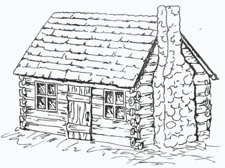 Beautiful Log Cabins Log Cabin Cabin Art House Colouring Pages Coloring Pages