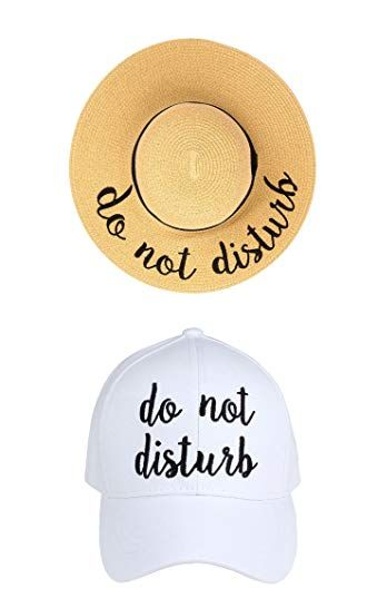 48fdec4e4 Funky Junque Women's Adjustable Embroidered Sayings Beach Sun Hat ...