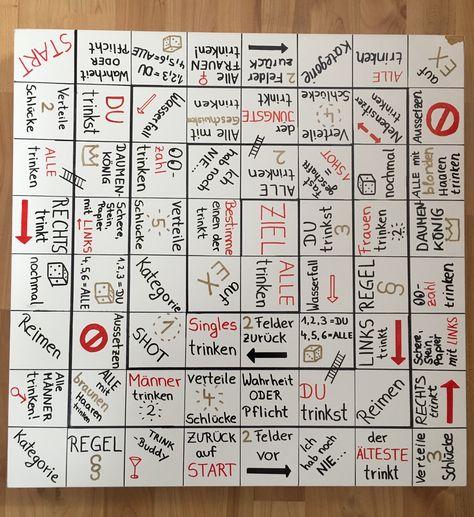 Machen trinkspiel brett selber Trinkspiel: Alkopoly