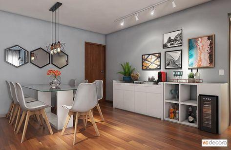Mais uma vista desse projeto para um apartamento de aluguel 🥰 Passe para o lado para ver o antes 👉🏻 . Mudamos a cor das paredes para o azul…