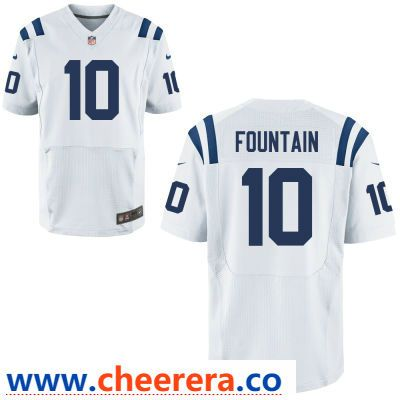 big sale ea36f 1dc13 Men's Indianapolis Colts #10 Daurice Fountain White Road ...
