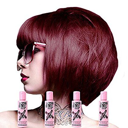 Crazy Color Semi Permanent Hair Dye 4 Pack 100ml Bordeaux Red Be Sure To Check Out Semi Permanent Hair Dye Semi Permanent Hair Color Permanent Hair Color