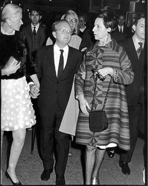 CZ Guest, Truman Capote & Diana Vreeland by Ron Galella