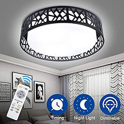 Dllt 35w Dimmable Ceiling Light Fixture Modern Led Ceiling Light With Remote Control Flush M Ceiling Lights Modern Led Ceiling Lights Dimmable Ceiling Lights Remote control ceiling light fixtures