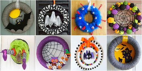 Vi mostriamo 30 meravigliose ghirlande di Halloween fai da te dalle quali  potrete trarre idee e ispirazione per un lavoretto adatto anche ai bambini 19eb06c86cfb
