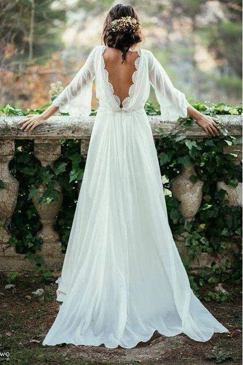 Plus Wedding Dresses, Backless Lace Wedding Dress, How To Dress For A Wedding, Dresses Elegant, Lace Wedding Dress With Sleeves, Lace Dress, Indie Wedding Dress, Goddess Wedding Dresses, Mountain Wedding Dresses