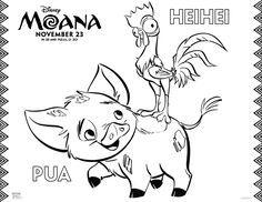 moana coloring sheets  free printables from the new disney movie moana with maui heihei