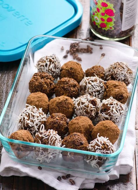 Cacao Nibs Brownie Bites Recipe - iFOODreal