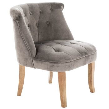 Pin By Heather Benin On S B Decor Ideas Grey Tufted Accent Chair