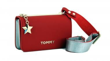 TOMMY HILFIGER Poppy Tote Schultertasche Tasche Tommy Red Rot Neu