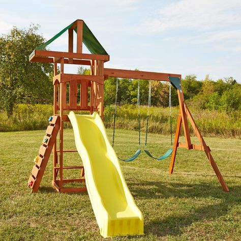 fca59a8817a Small footprint Swing Set Playstar Inc. Sonoma Ready-to-Assemble Playset Kit