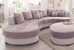 Benformato Home Collection Benformato Home Big Sofa Grau Ottomane